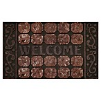 "Achim Octagon Squares Welcome 18"" x 30"" Multicolor Raised Rubber Door Mat"
