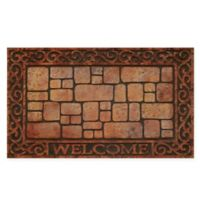 "Achim Paver Scroll Welcome 18"" x 30"" Multicolor Raised Rubber Door Mat"