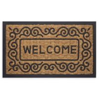 "Achim Scrolls Welcome 18"" x 30"" Coco Door Mat in Brown"