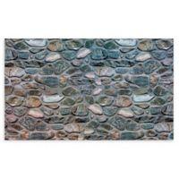 """Achim Inlaid Stones 18"""" x 30"""" Multicolor Rubber Door Mat"""