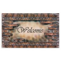 "Achim Bricks Welcome 18"" x 30"" Multicolor Rubber Door Mat"