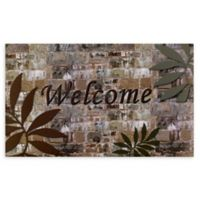 "Achim Palms Welcome 18"" x 30"" Multicolor Rubber Door Mat"
