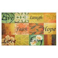 "Achim Life 18"" x 30"" Multicolor Rubber Door Mat"