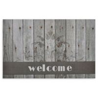 "Achim Boardwalk Welcome 18"" x 30"" Multicolor Rubber Door Mat"