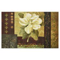 "Achim Magnolia Welcome 18"" x 30"" Multicolor Rubber Door Mat"