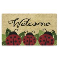 "Achim 18"" x 30"" Ladybug Welcome Coir Multicolor Door Mat"