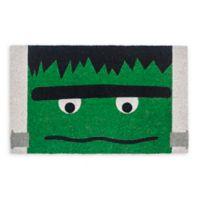 """Entryways Frankenstein 17"""" x 28"""" Coir Door Mat in Green/Black"""