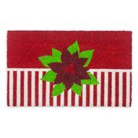 "Entryways Holiday Greetings 17"" x 28"" Coir Multicolor Door Mat"