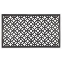 """Entryways Circle Chains 16"""" x 28"""" Recycled Rubber Door Mat"""