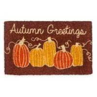 "Entryways Autumn Greetings 18"" x 30"" Coir Multicolor Door Mat"