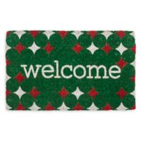 "Entryways Stars Welcome 18"" x 30"" Coir Multicolor Door Mat"
