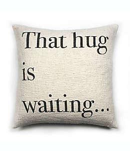 Cojín decorativo cuadrado de algodón Bee & Willow™ Hug Waiting