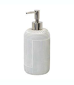 Dispensador de jabón de resina Studio 3B™ Cross Hatch color blanco coco