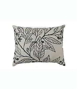 Cojín decorativo de algodón Bee & Willow™ Home Berry Leaves color gris