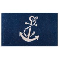 "Envelor Home and Garden 24"" x 39"" Nautical Anchor Coir Door Mat"