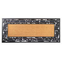 """Envelor Home and Garden 24"""" x 57"""" Leaves Rubber Coir Door Mat in Brown"""