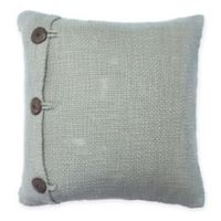 Great Bay Home Jamie Square Throw Pillow in Dusk Blue
