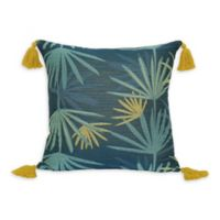 Jungalow by Justina Blakeney Dabito Square Throw Pillow in Blue/Yellow