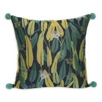 Jungalow by Justina Blakeney Euc Square Throw Pillow in Blue/Green