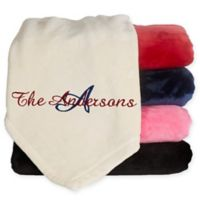 Initially Yours 60-Inch x 80-Inch Fleece Blanket