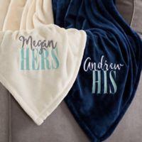 His or Hers 60-Inch x 80-Inch Fleece Blanket