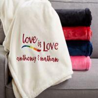 Love Is Love 60-Inch x 80-Inch Fleece Blanket