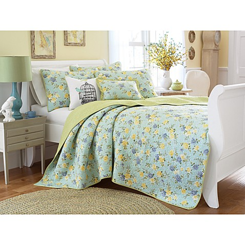 laura ashley garden party annette quilt 100 cotton bed. Black Bedroom Furniture Sets. Home Design Ideas