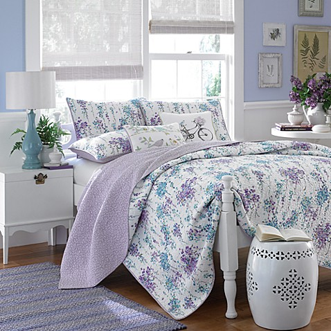 Laura Ashley Garden Party Tessa Quilt 100 Cotton Bed Bath Beyond