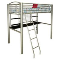 Powell Gavin Twin Loft Bed in Silver