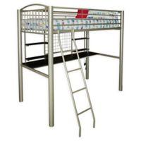 Powell Gavin Twin Loft Bed in Silver