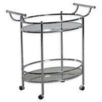 Powell Bar Cart in Chrome