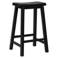 Powell® Barstool in Antique Black with Terra Cotta