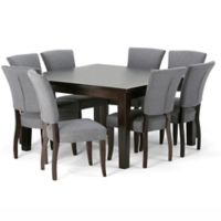 Simpli Home Joseph 9-Piece Dining Set in Dark Java Brown/Grey