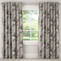 Skyline Ballad Bouquet 96-Inch Rod Pocket/Back Tab Window Curtain Panel in Grey