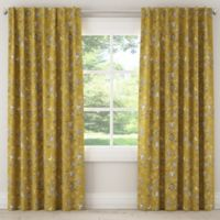 Skyline Dahlia 120-Inch Rod Pocket/Back Tab Window Curtain Panel in Yellow