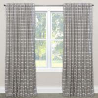 Skyline Menton Rod Pocket 84-Inch Window Curtain Panel in Grey