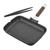 Ballarini Cookin'Italy Nonstick Cast Aluminum Grill Pan Set in Black