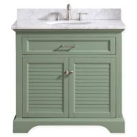 Avanity™ Colton 37-Inch Single Vanity with Sink and Mirror in Basil/White