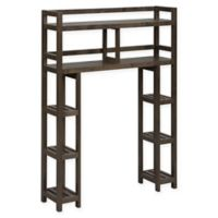 New Ridge Home Goods® Dunnsville 2-Tier Over the Toilet Space Saver in Espresso