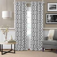 Elrene Celeste 84-Inch Grommet Room Darkening Window Curtain Panel in Black