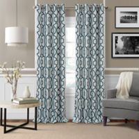 Elrene Celeste 95-Inch Grommet Room Darkening Window Curtain Panel in Blue