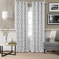Elrene Celeste 95-Inch Grommet Room Darkening Window Curtain Panel in Grey