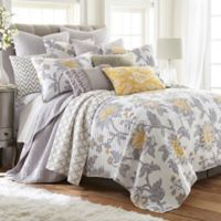 Levtex Home Robin Reversible King Quilt Set in Grey/White