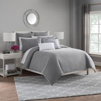 Haven Twin Duvet Cover Set in Silver