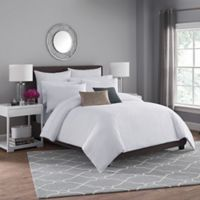 Haven Twin Duvet Cover Set in White