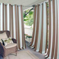 Elrene Aiden Stripe 84-Inch Indoor/Outdoor Window Curtain Panel in Natural