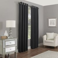 Madeira 108-Inch Grommet 100% Blackout Window Curtain Panel in Charcoal