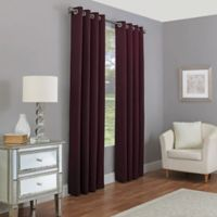 Madeira 108-Inch Grommet 100% Blackout Window Curtain Panel in Aubergine