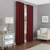 Madeira 84-Inch Grommet 100% Blackout Window Curtain Panel in Crimson