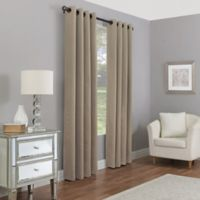 Madeira 108-Inch Grommet 100% Blackout Window Curtain Panel in Linen